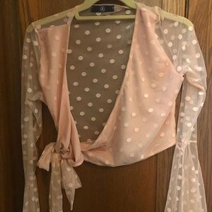 Missguided pink tie top